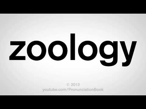 How to Pronounce Zoology